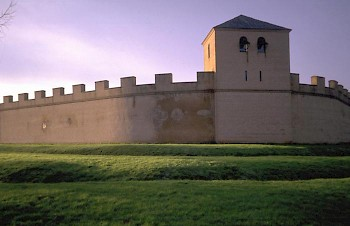 Modern reconstruction of CUT's wall