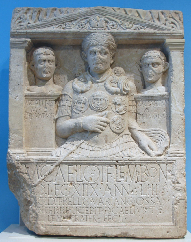 One of the soldiers killed in action: Marcus Caelius