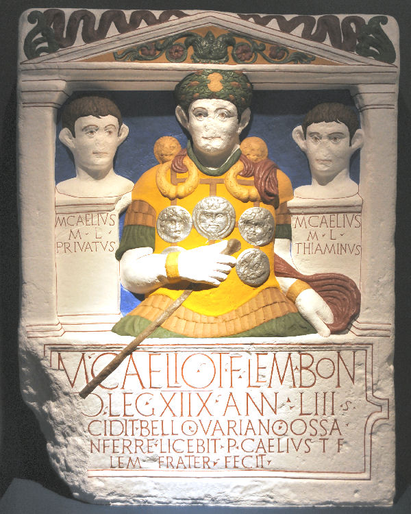 Modern reconstruction of the cenotaph of Marcus Caelius