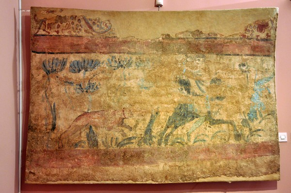 Viminacium, Christian tomb with a hunting scene (1)