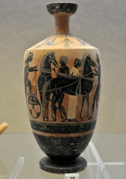 Syracuse, vase with a chariot (Taleides Painter)
