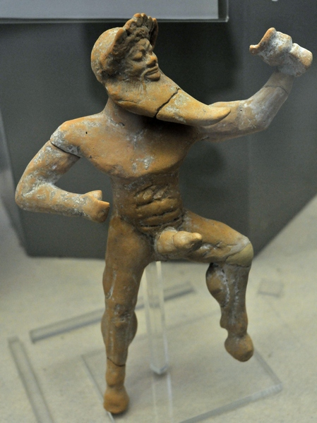 Silenus, dancing with a cup