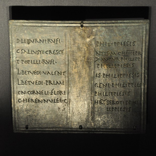 Diploma of several men from Philippi