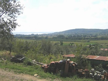 The battlefield at Lake Trasimene, from the northeast.