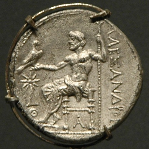 Zeus on a coin of Alexander the Great