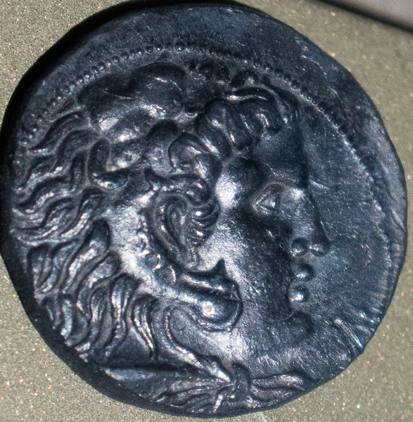 Coin from Byblos: Heracles-Melqart with the features of Alexander the Great