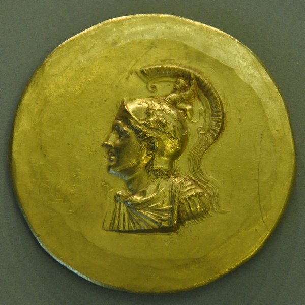 Medaillon of Alexander, with the abduction Europa on his helmet