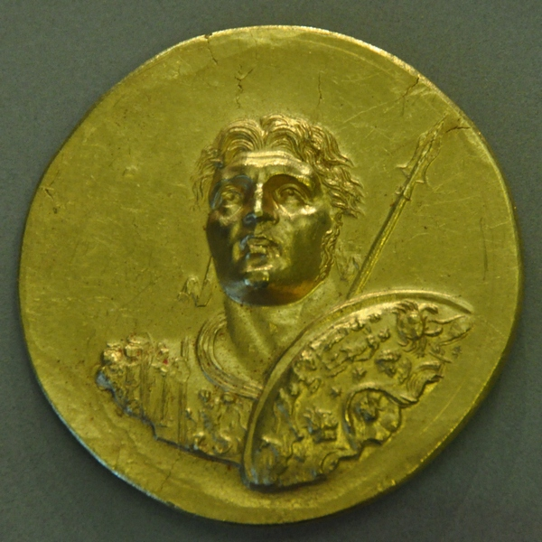 Medaillon of Alexander with the zodiac on his shield