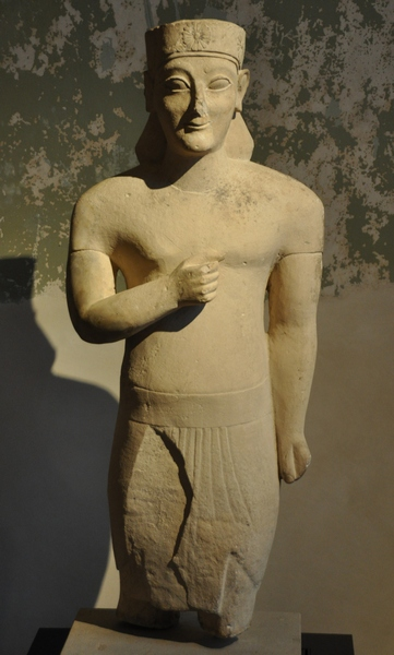 Idalion, late archaic statue of a man