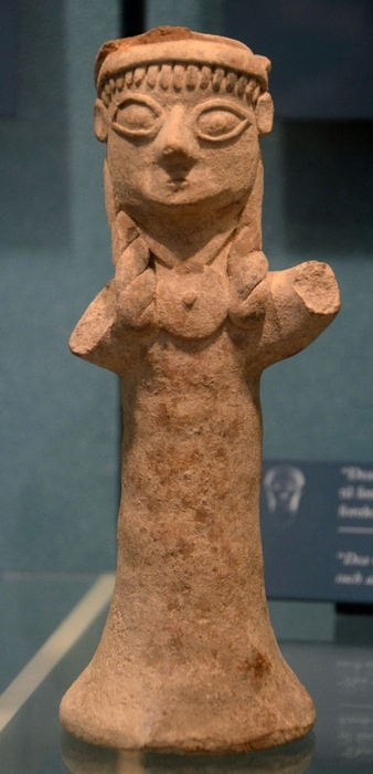 Old Paphos, archaic statuette of a worshipper of Aphrodite