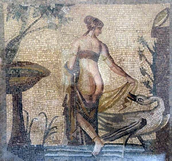 Old Paphos, House of Leda, mosaic of Leda