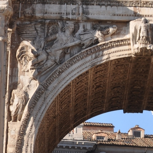 Arch of Severus, victoria (east, left) and spring