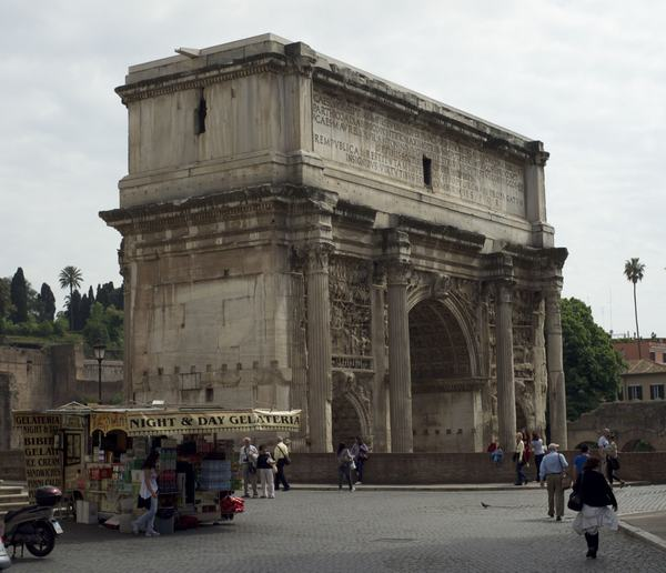 Arch of Severus, view from the north