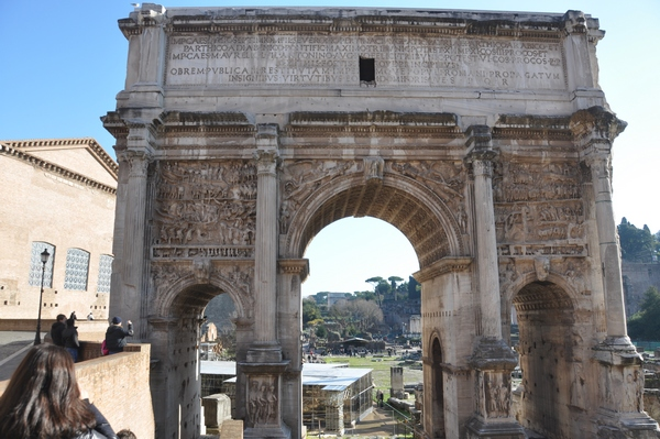 Arch of Severus, seen from the Capitol