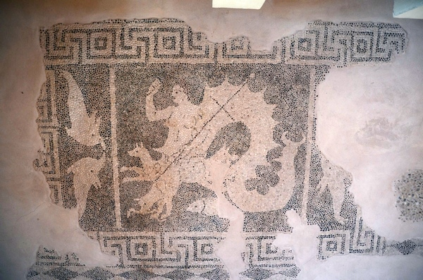 New Paphos, House of Dionysus, Room 01, Hellenistic Mosaic of Scylla