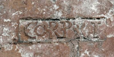 Tile stamp from Schirenhof: CORPRET