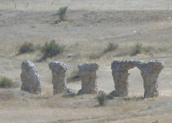 The remains of Satala's aquaduct