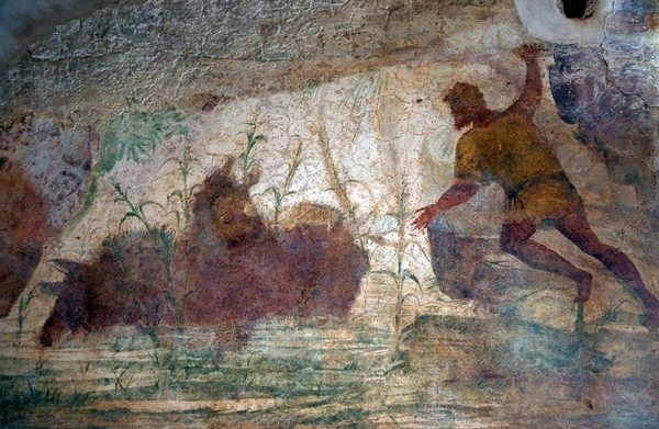 Villa Selene, Atrium, wall painting left