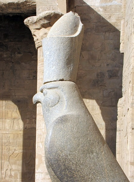 Edfu, Ptolemaic Horus, wearing the double pschent crown