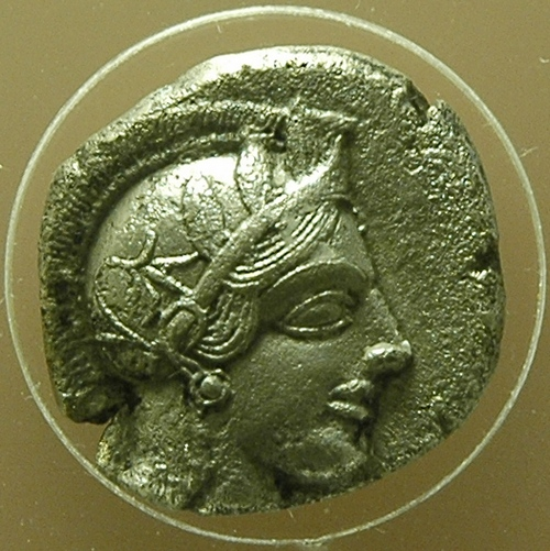 Athens, Coin with portrait of Athena (2)