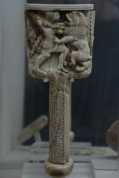 Old Paphos, Evreti, Tomb 8, mirror handle with a lion hunt