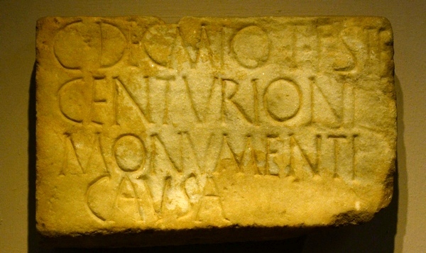 Pegeia, Decmius inscription