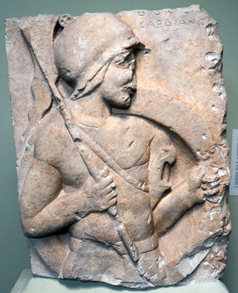 Lysi, Relief of a hoplite