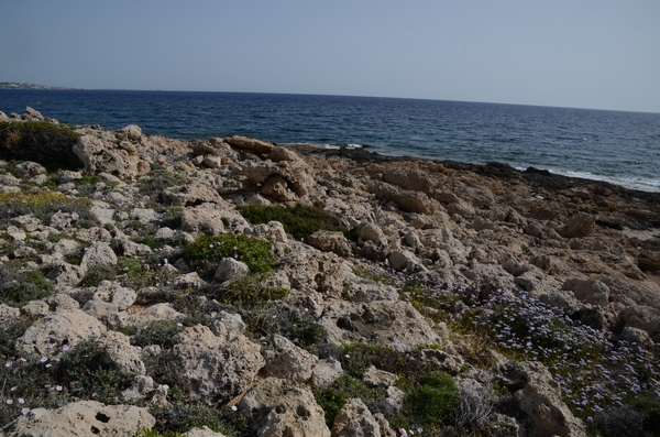 Maa, Shore with remains of a Mycenaean wall