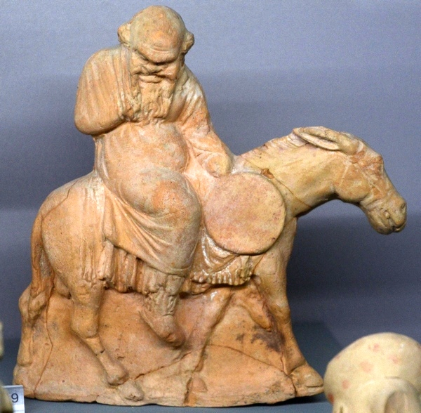 Soli, Figurine of a satyr on a donkey
