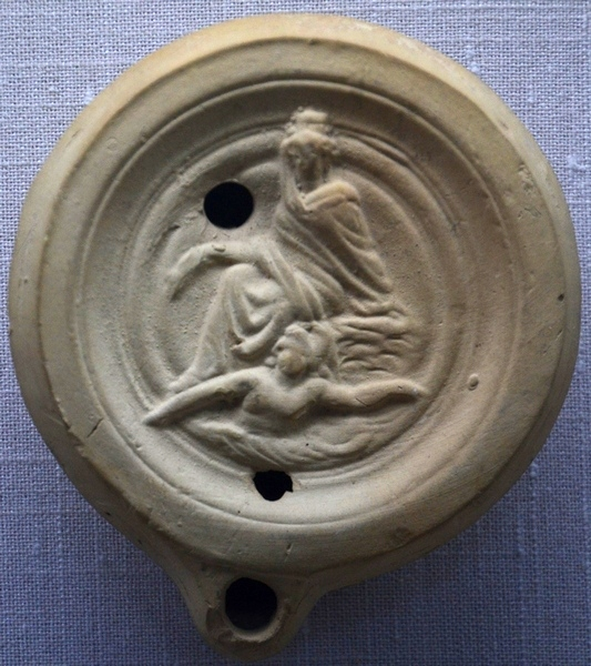 Oil lamp with the Tyche of Antioch