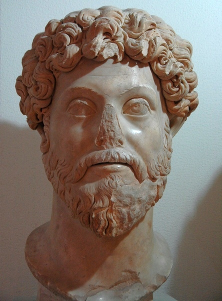 Lepcis, Theater, portrait of Marcus Aurelius