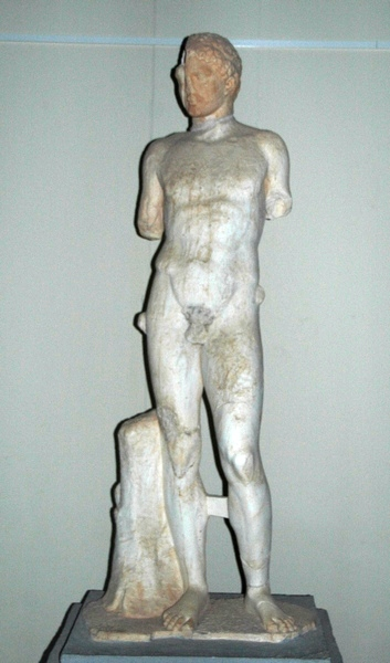 Lepcis, Theater, statue of an athlete