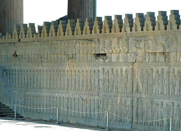 Persepolis, Apadana, East Stairs, northern part