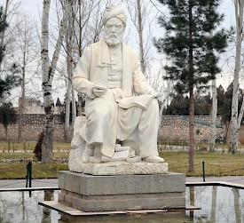 The statue of Firdausi (a copy can be seen in the Villa Borghese park in Rome)