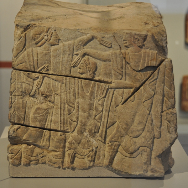 Clusium, Etruscan relief with dancers