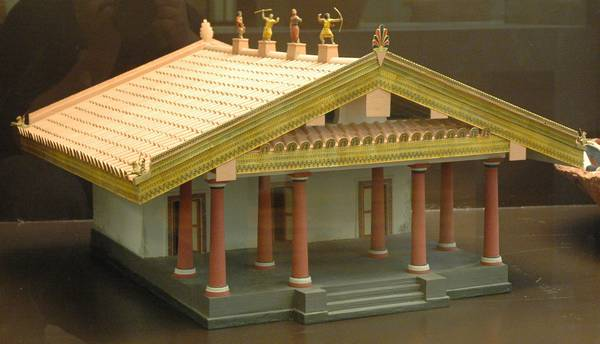 Etruscan temple, model
