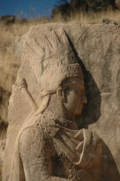 Arsameia, Site 3: Dexiosis Relief, Antiochus (1) - Livius
