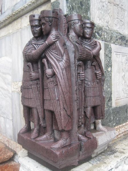 Venice, San Marco, Sculpture of the four Tetrarchs