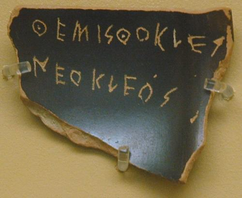 Athens, Agora, Ostracon mentioning Themistocles