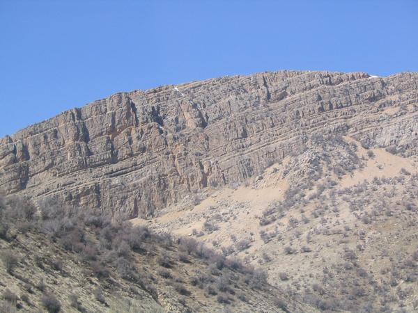 Geological layers, east of Yasuj