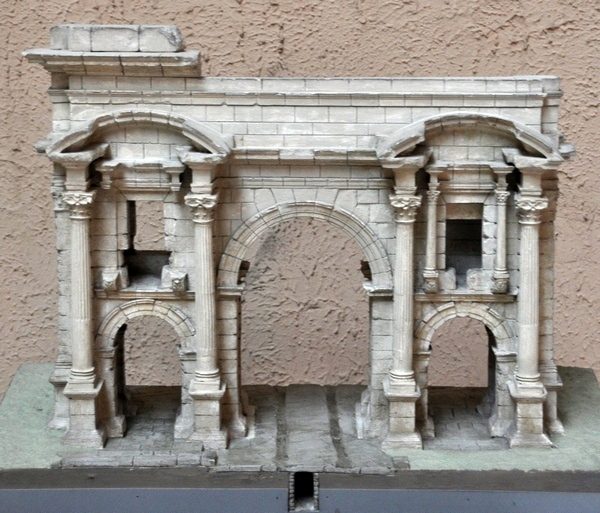 Timgad, Arch of Trajan (model)