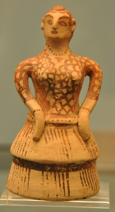 Sparta, Mycenaean statuette of a woman