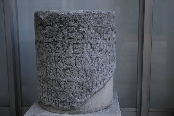 Via Egnatia, milestone of Septimius Severus