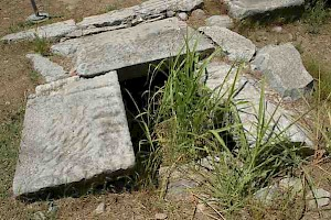 Philippi, sewer in the Via Egnatia