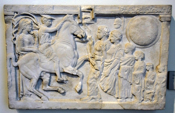 Cumae, Relief of a hero