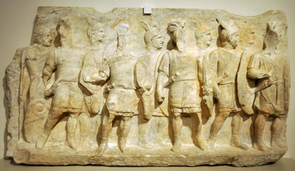 Cumae, Relief of a group of soldiers