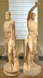 Statue of Harmodius and Aristogeiton, the Tyrannicides, from the Baths of Caracalla in Rome