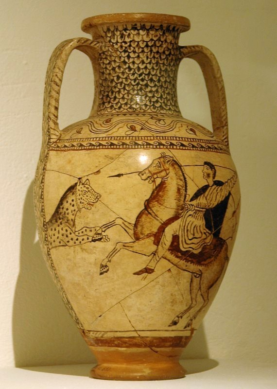 Anisa, Amphora with a hunting scene