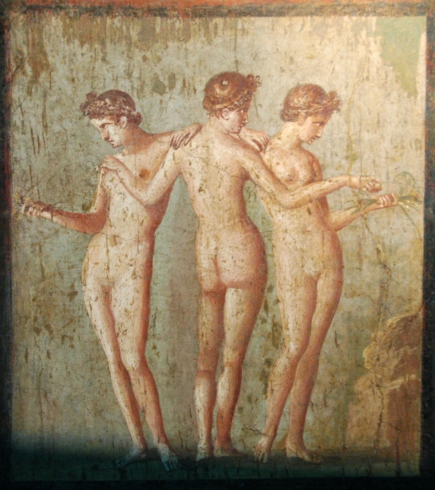 Pompeii, Wall painting of the Three Graces