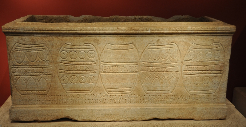 Patara, Sarcophagus of the champion Theronides